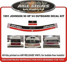 1991 JOHNSON 90 HP V4 Outboard Decal kit reproductions also 115 hp