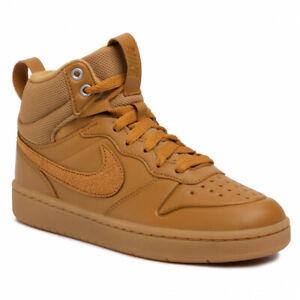 Kids Nike Court Borough Mid 2 (TD) Trainers BQ5445 700 Wheat Size UK 7.5 EU 25