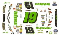 #19 Jason Leffler MediaMaster Toyota 2013 1/64th HO Scale Slot Car Decals