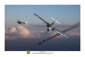 "WWII WW2 RAAF P-40 Kittyhawk Pacific Aviation Art Photo Print - 12"" X 18"""