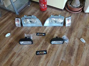 FSO Polonez 1991-2002 front lamp kit = headlamp + flasher + foglamp + side flash