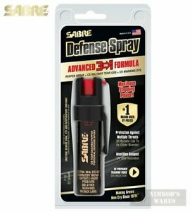 Sabre 3-IN-1 PEPPER SPRAY + Clip 10ft Range 35 Bursts Self-Defense P-22