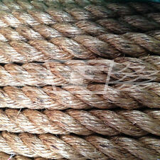 NATURAL MANILA ROPE (20mm) DECKING, GARDEN, BOATING,TUG OF WAR, CLIMBING ROPE