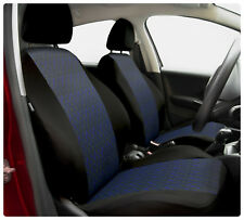 Car seat covers fit Skoda Fabia - full set black / blue