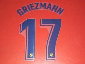NAMESET FLOCAGE OFFICIEL GRIEZMANN FC BARCELONE AWAY 2019/2020