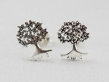"925 Silver Earring For Women Teen Ear Stud Cartilage Helix Tree of Life 10mm 00"""