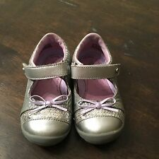 Stride Rite Mary Janes Girls Size 6M Toddler Willow Sequins Bow Strap Close