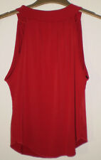 Quiz Sexy Red Sleeveless Halterneck Cropped Casual Evening Summer Top Size 14