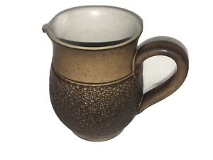 """Denby Langley COTSWOLD 3 3/8"""" SMALL CREAM JUG Creamer Brown Textured Stoneware"""