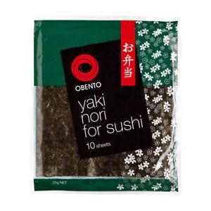 Yaki Nori Roasted Sushi Seaweed 10 Sheets 25g-Resealable packaging