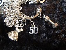 Celebrate Your 50 pound Weight Loss with #50 Charm for Weight Watchers Keychain!
