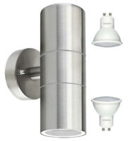 Modern IP65 Stainless Steel LED Outdoor Garden Up & Down Wall Light Lamp 8w LED