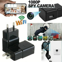 HD WIFI 1080P Mini Camera USB Wall Charger Adapter Home Security Recorder Cam
