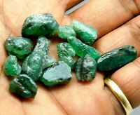 Natural 53.00 Ct Earth Mined Colombian Green Emerald Rough Loose Gemstone Lot