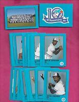 1986 TORONTO BLUE JAYS 10TH ANNIVERSARY SET CARD (INV# C4690)