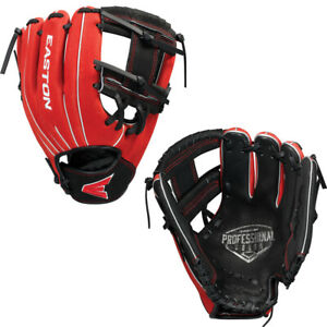"Easton Professional Series 10"" Youth Baseball Glove Black/Red A130 838"
