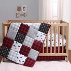 The Peanutshell Buffalo Plaid Crib Bedding Set for Boys or Girls   Woodland Them