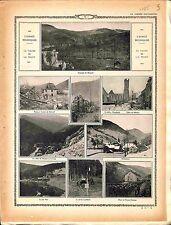 Alsace Vallée de la Fecht Metzeral Steinabrück Eglise de Sültzern Linge 1915 WWI