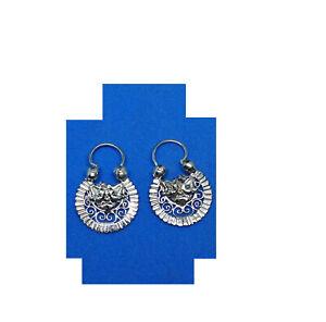 Arracadas Jerezanas #1 doble vista, silver .950 handmade Jerez Zacatecas via DHL