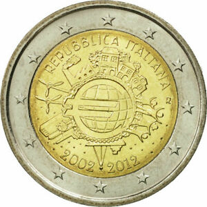 Pièces de 2 € commémoratives 2012 10 ans de l'EURO / ITALIE