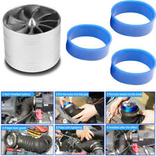 Air Intake Turbo Turbonator Dual Fan Turbine Gas Fuel Saver Supercharger Power