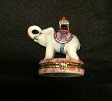 Rare Limoges Artoria Limoges Trinket Box - Peint Main - Elephant - Howdah! Excel