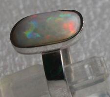 Multicolor Opal 3.5 Karat 950er Silberring Größe 15,9 mm