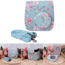 Mini 8/9 Instax Camera Bags Floral Faux Leather Pouch Strap Covers For Fujifilm