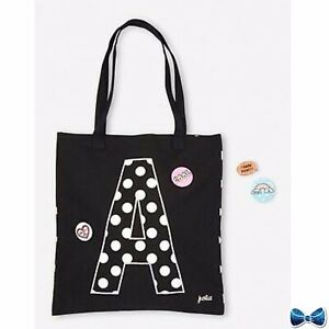 Justice Girls Initial ( N ) Beach Tote With Pins New With Tags