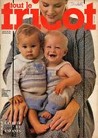 Catalogue tout le tricot layette et enfants 23 modèles année 1982