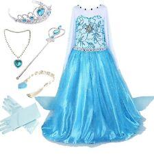 Frozen Inspired Dress+Crown+Necklace+Scepter+wig+Gloves Set