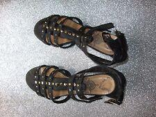 Coolway - sandali bassi borchiati neri misure. 37 chiusura alla caviglia