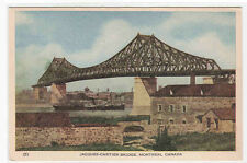 Jacques Cartier Bridge Montreal Quebec Canada postcard
