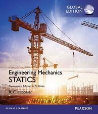 NEW Engineering Mechanics Statics 14E Russell C. Hibbeler 14th Si Units Edition