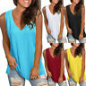 Womens Summer Strappy Vest Top Sleeveless Shirt Blouse Casual Loose Tank Tops AK