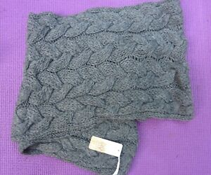 EAST Chunky Cable Knit Grey Snood Winter Alpaca Scarf BNWT XMAS Gift RRP £35.00