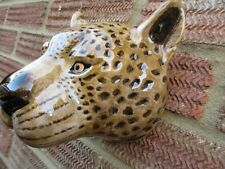 More details for fabulous large leopard wall vase/ plant pot by quail ceramics boxed ideal gift
