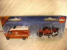 Siku Mercedes Sprinter Sapeurs Pompiers & BMW Motorbike Fire  - France REF:1656