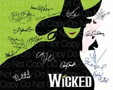 Wicked the play musical poster signed x16 8X10 photo picture autograph RP 1