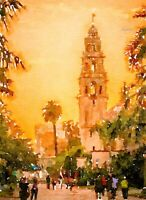 El Prado, Watercolor print, 8.5x11Home Decor, Museum of Man Balboa San Diego