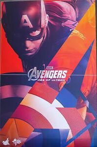 Hot Toys Avengers Age of Ultron Captain America 1/6 Figure (USED)