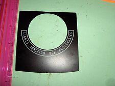 HARLEY FL SHOVELHEAD,EVO, INSTRUMENT PANEL DASH COVER DECAL..1968-90