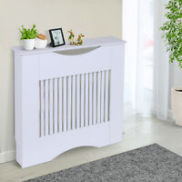 Radiator Cover Heater Cabinet Slatted Worktop Painted MDF White