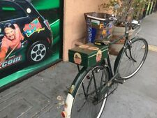 rear bicycle custom made metal crate box green with vinyl graphics,