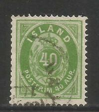 Iceland 1876 40a green (14) fine used
