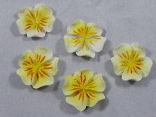 5 Relief Blüten Streuelemente Streudeko  Basteln - 24 mm