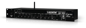 Professional Rack Mount Audio Mixer with 2 x 1 HDMI Video Switcher + Bluetooth