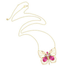 SWAROVSKI CRYSTAL 5080955 BLOOM LONG BUTTERFLY PENDANT NECKLACE GOLD PLATED BOXD