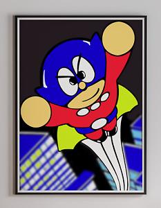 Bomb Jack 1984 Tecmo Arcade Video Game Retro Print Poster 18 x 24 inches