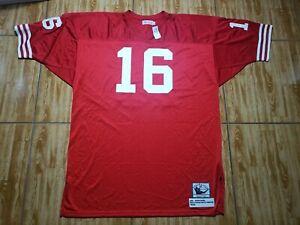 NWT Mitchell & Ness Joe Montana San Francisco 49ers Football Jersey Mens 2XL Red